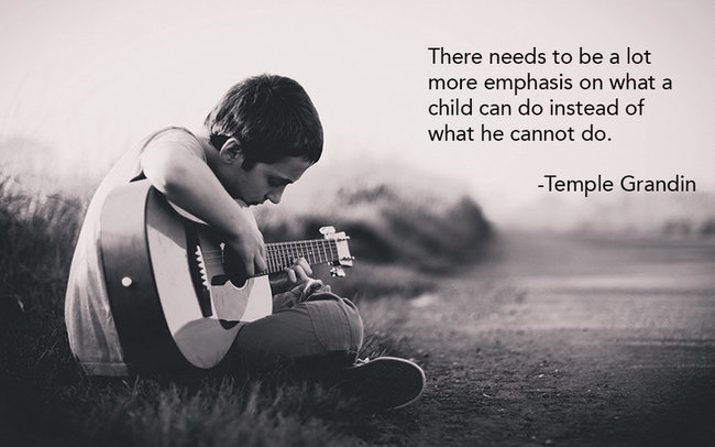 There needs to be a lot more emphasis on what a child can do ...