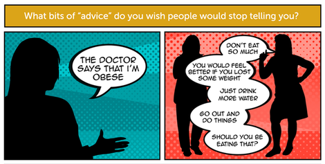 Your answers  the worst advice for those living with obesity