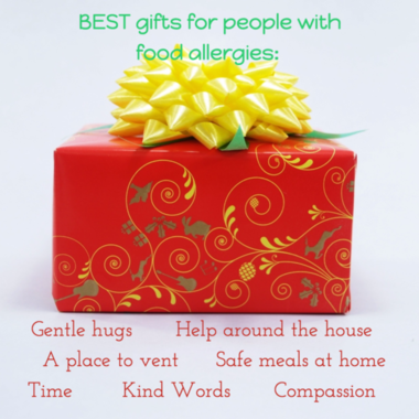 Gifts food allergies homemade quote