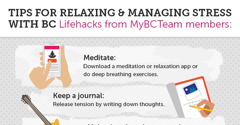 Tips for relaxing and managing stress  lifehacks from mybcteam members