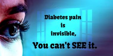 Diabetes pain invisble