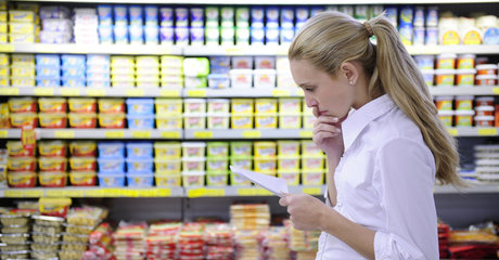 Copy of woman shopping grocery butter cooking fat health food